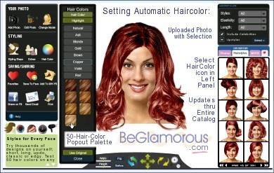 Программы для изменения цвета волос по